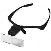 Купить Лупа-очки Kromatech налобная 1,0/1,5/2,0/2,5/3,5x, с подсветкой (2 LED) MG9892B