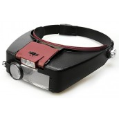 Купить Лупа Kromatech налобная 1,5/3,0/8,5/10,0x, с подсветкой (2 LED) MG81007-A