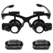 Купить Лупа-очки Kromatech налобная 10/15/20/25x, с подсветкой (2 LED) MG9892G/GJ
