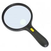 Купить Лупа Kromatech ручная круглая 1,8/5х, 138 мм, с подсветкой (3 LED), черная MG-9986-E