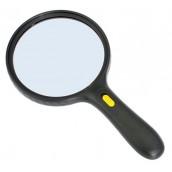 Купить Лупа Kromatech ручная круглая 2х, 100 мм, с подсветкой (3 LED), черная MG-9986-C