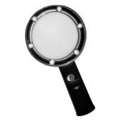 Купить Лупа Kromatech ручная круглая 5х, 75 мм, с подсветкой (6 LED), черная ZB666-075