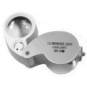 Купить Лупа Kromatech ювелирная 40х, 25 мм, с подсветкой (2 LED) MG21011