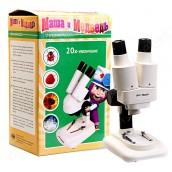 Купить Стереомикроскоп Микромед в кейсе «Маша и Медведь» 20х